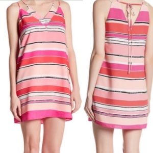 NWT CeCe Striped Chiffon Dress